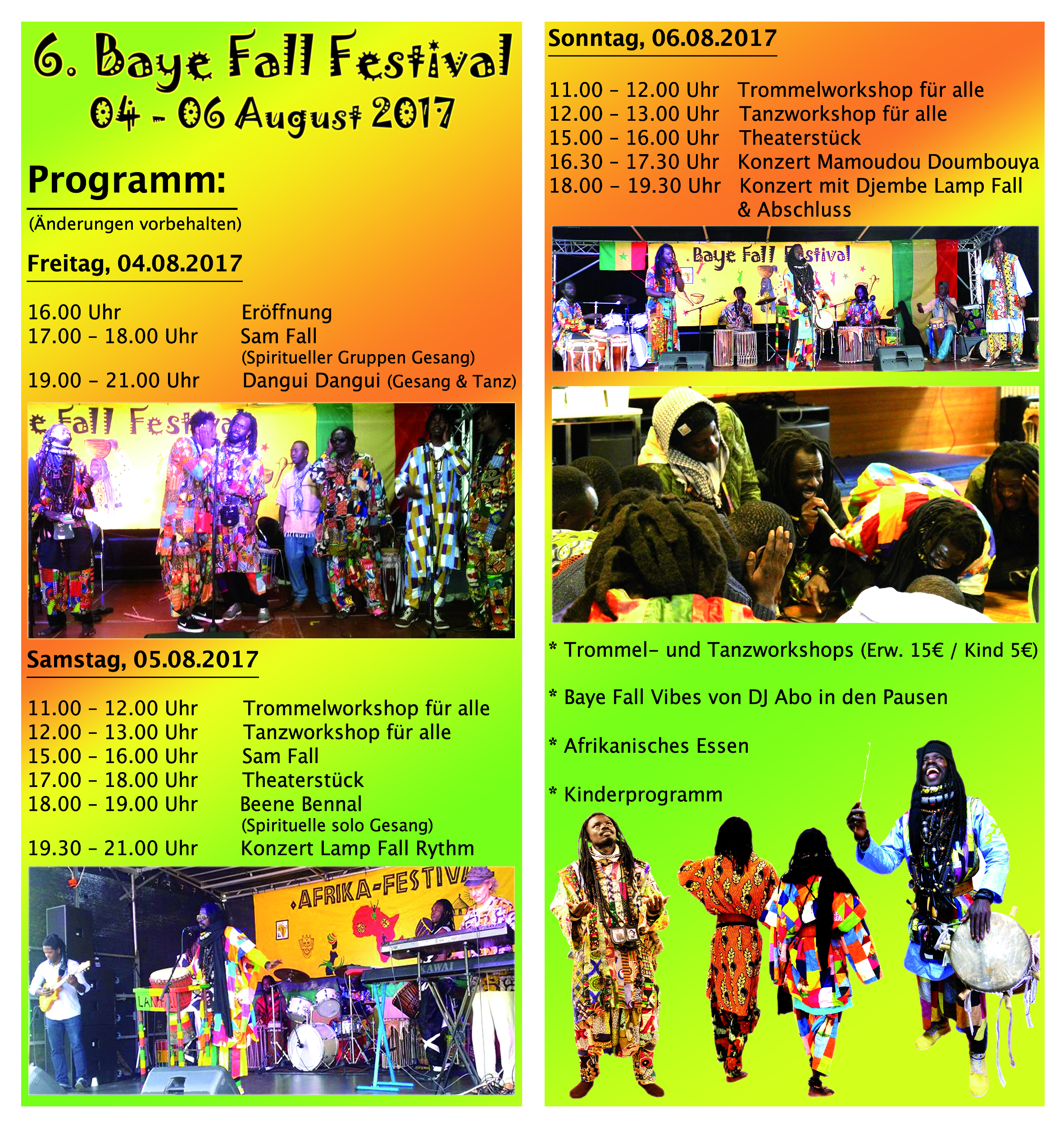 Flyer Baye Fall Festival 2017 innen