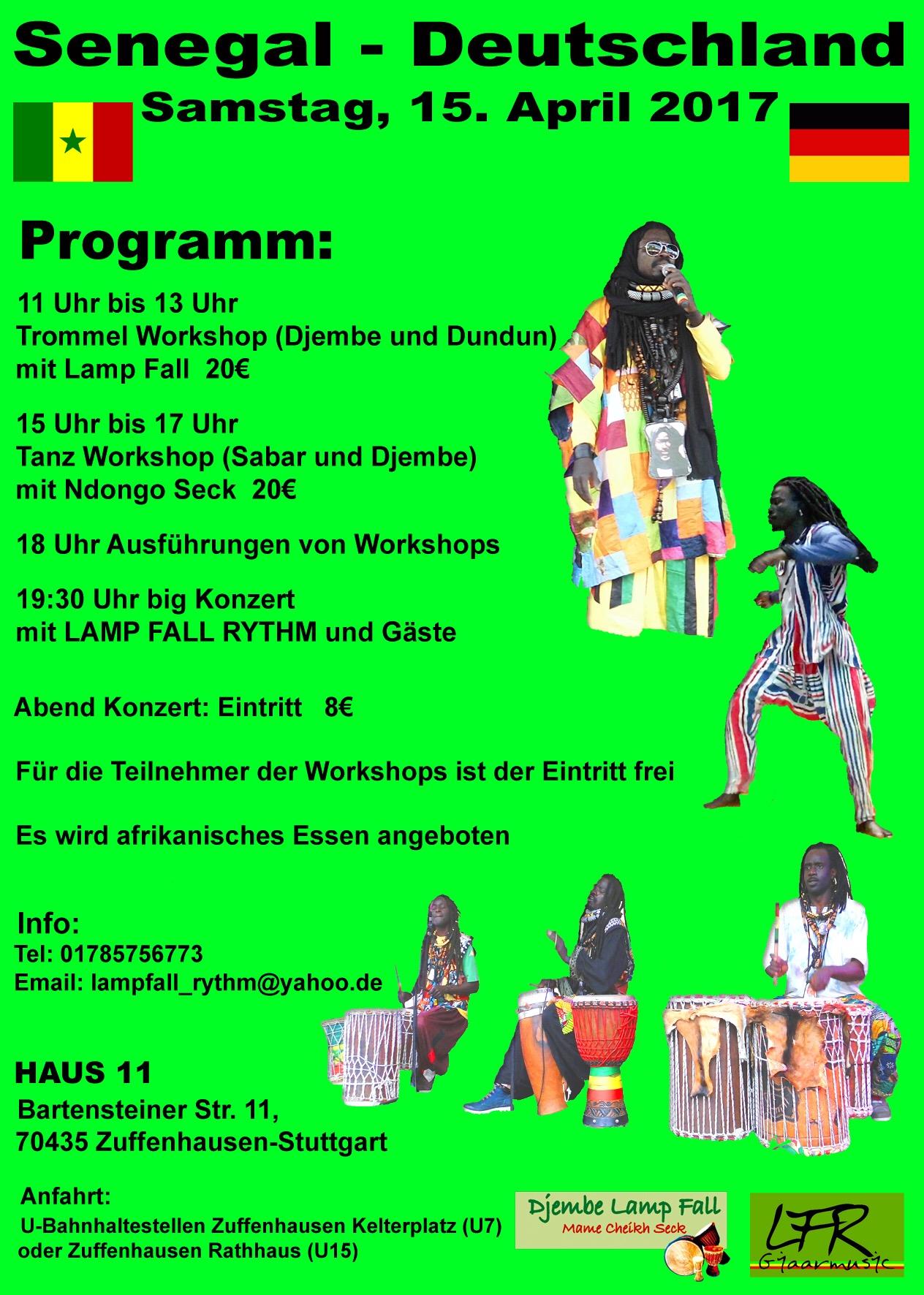 Programm Senegal - Deutschland 2017